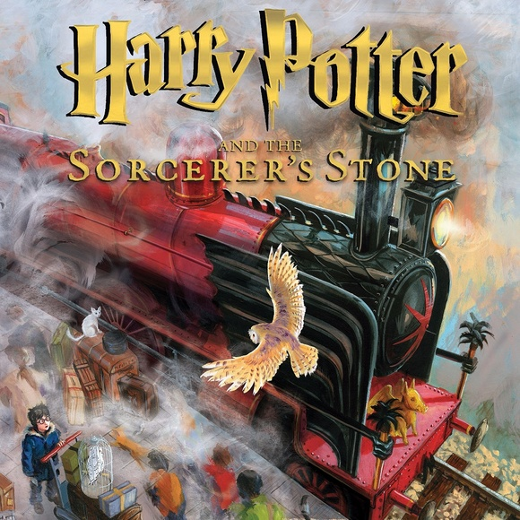 Harry Potter Other - 5/$25 Harry Potter Sorcerer's Stone Illustrated